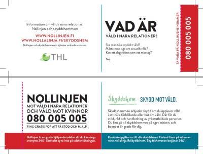Nollinjen och skyddshem - visitkort (svenska, 100 st)