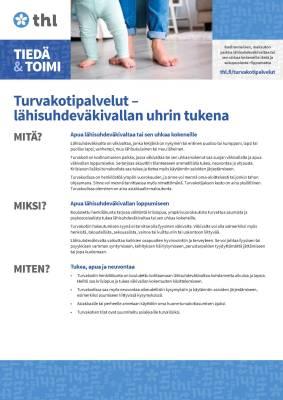 Turvakotipalvelut lähisuhdeväkivallan uhrin tukena (50 kpl)